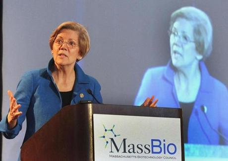 Senator Elizabeth Warren has called for more National Institutes of Health funding.